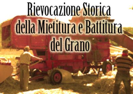 rievocazione mietitura battitura grano - ruscello