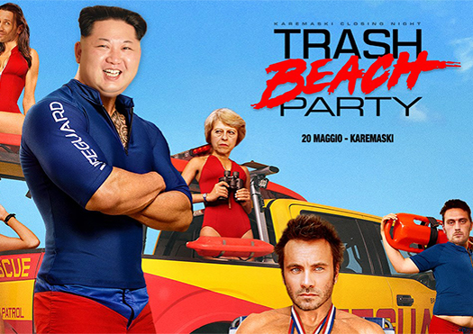 trash beach party - karemaski