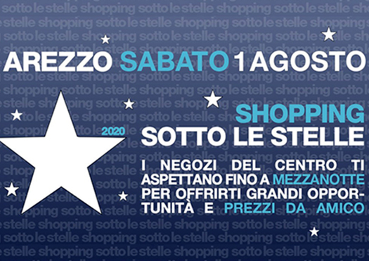 shopping sotto le stelle - arezzo