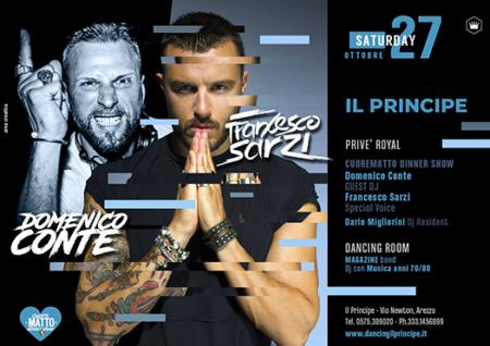 domenica conte - francesco sarzi - discoteca il principe arezzo