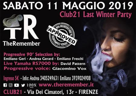 the remeber vinyl e live - club 21